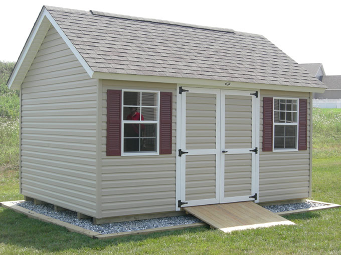 Amish built garages garden sheds gazebos playsets for Garden sheds built on site