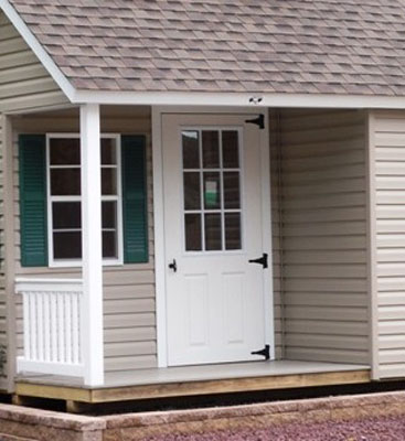 Garden Shed Options & Accessories lighted doors