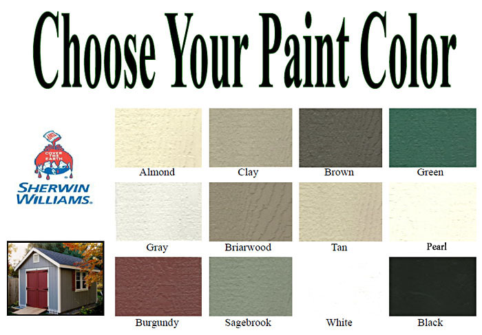 Garden Shed Options & Accessories paint colors