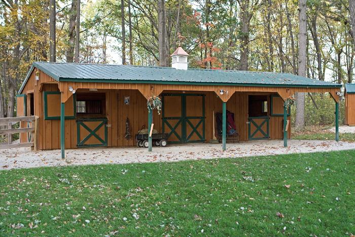 Amish built garages garden sheds gazebos playsets for Mini barn shed