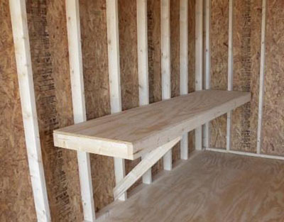 Garden Shed Options & Accessories work benches